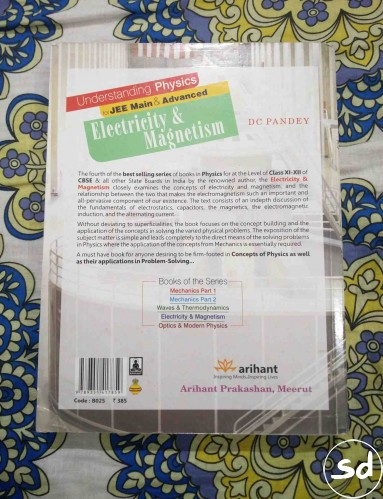 Understanding Physics Fot Jee Electricity And Magnetism | Book